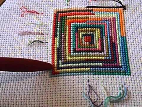 Вышивка крестом на подушками