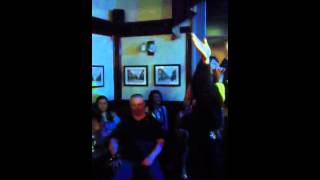 Shelly on karaoke