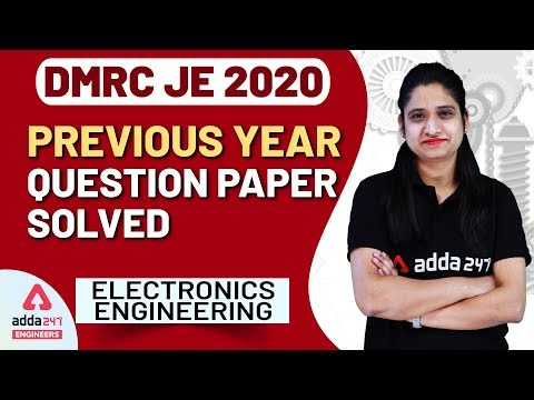 DMRC JE   Electronics Engineering  Previous Year Question Paper Solved