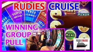 ⏰ Hour Long Group Slot Pull 🚢 RUDIES Cruise ✦ Wiinnnnnnning Group Pull! 😂✦ Brian Christopher Slots