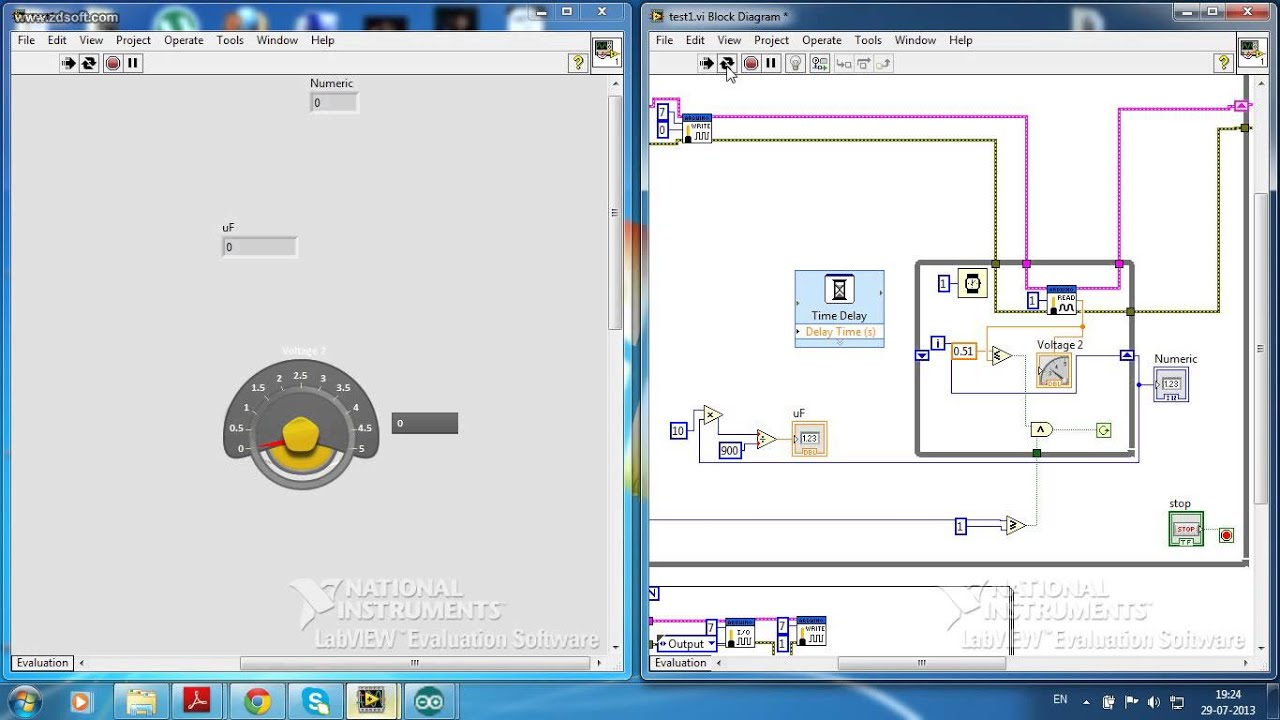 labview capacitance meter demo