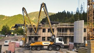 Liebherr – concrete boom pumps with XXT outriggers
