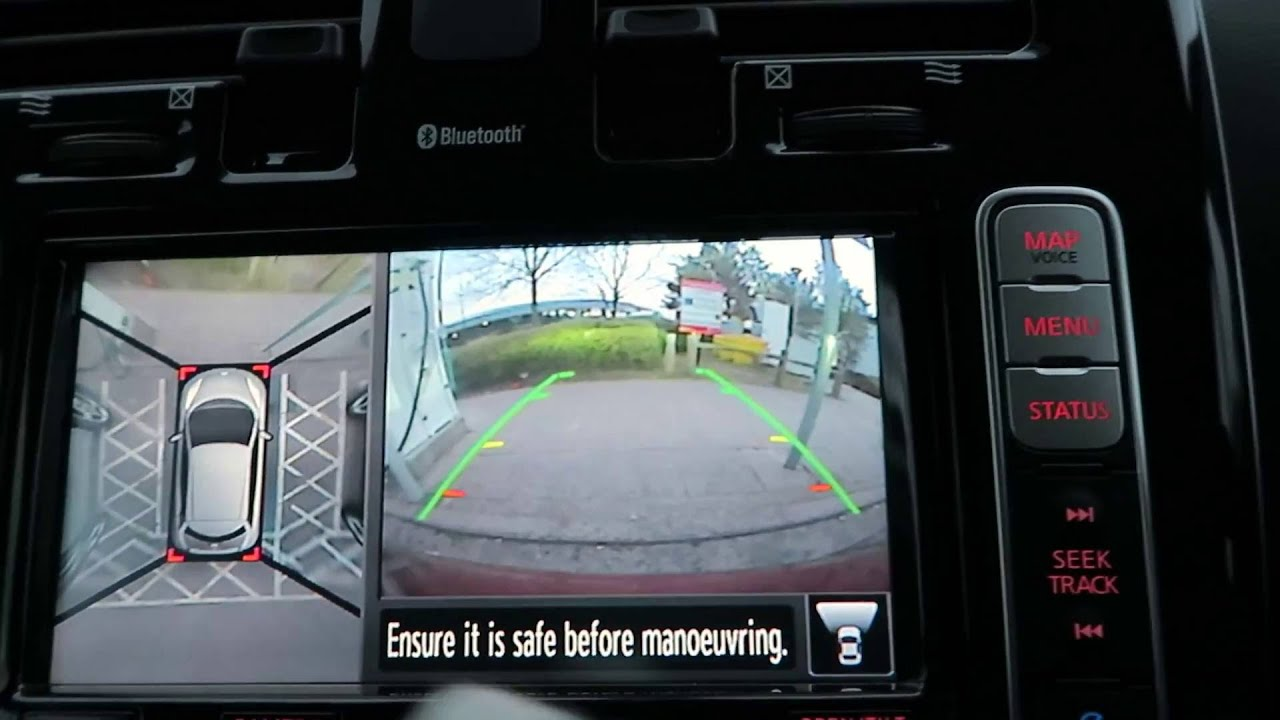 nissan leaf 360 camera youtube