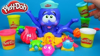 Play Doh Octopus Toy Unboxing and Playing