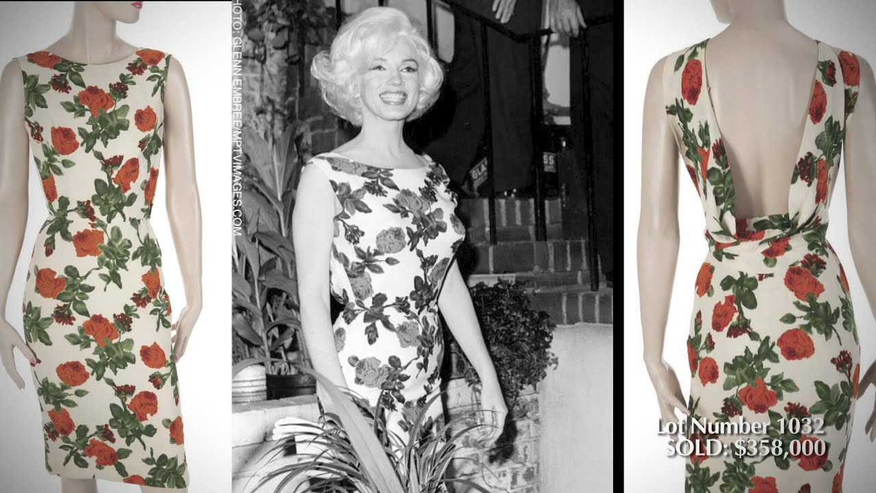 2019 year looks- Monroe Marilyn dress auction pictures