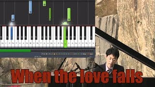 """How to play """"When The Love Falls"""" by Yiruma [50% Speed]"""
