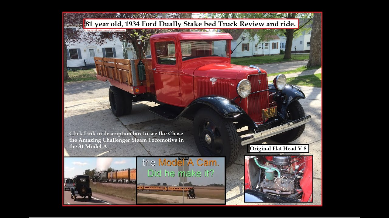 81 year old, 1934 Ford Dually Stake Bed Truck review and ride ...