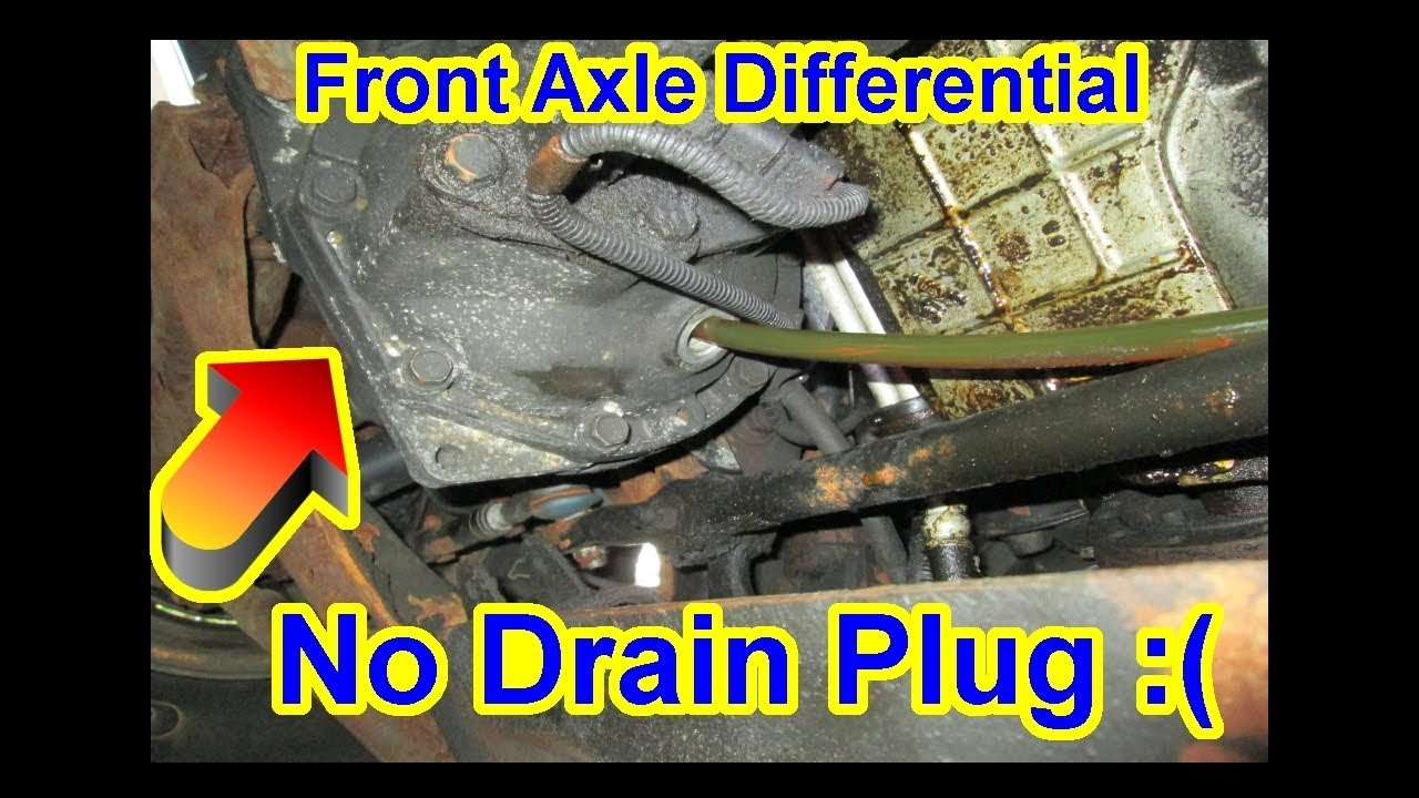 Front Axle Differential No Drain Plug 1996 Chevy Blazer S10 Fluid Gear Oil Change 80w 90 Youtube