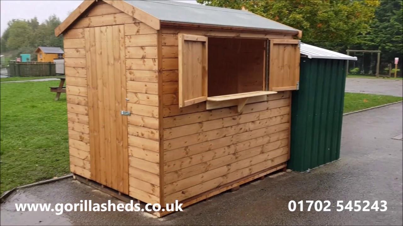 Gorilla Garden Sheds Ltd: 8 X 6 Tuck Shop Shed