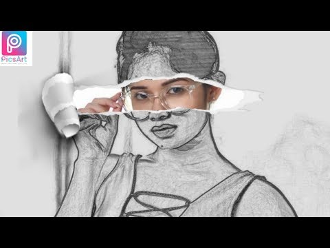 PicsArt Sketch Effort || Paper Photo Editting tutorial for Stap by stap 2019 thumbnail