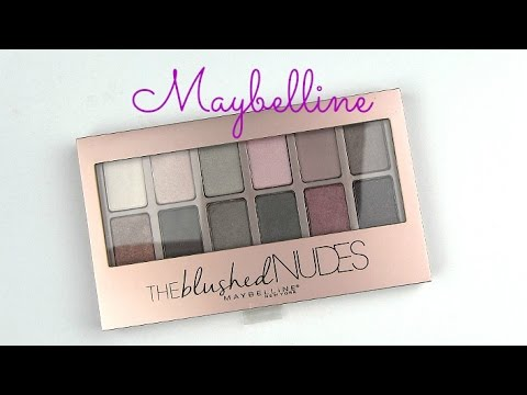 Maybelline Blushing Nudes Palette: Live Swatches & Review