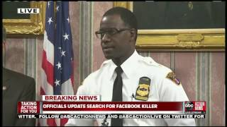 """Search for Facebook murder suspect now a """"national search,"""" $50,000 reward offered"""