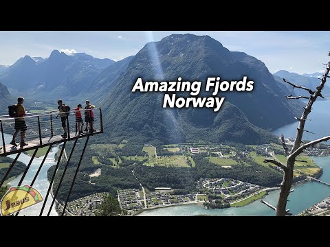 Fjords in Andalsnes NORWAY | amazing scenic views on our Holiday trip