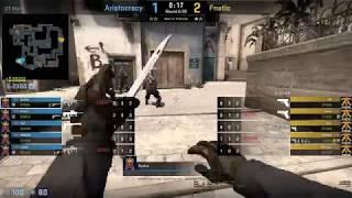 CS GO POV Demo Aristocracy Dycha 24 19 vs fnatic mirage