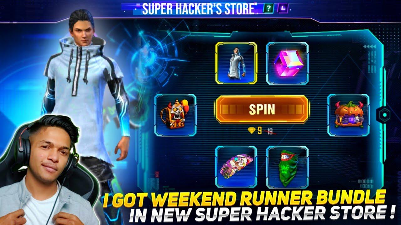 New Super Hacker Store Event I Got New Weekend Runner Bundle & New BackPack Skin Garena Free Fire