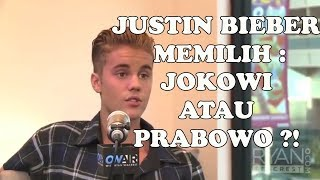 Justin Bieber Pilih Jokowi atau Prabowo?!