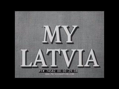 """ MY LATVIA "" COLD WAR SOVIET OCCUPATION OF BALKAN STATES 74582"