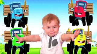 Learn Color With Blue Tractor Colorful Learning Color Video For Kids