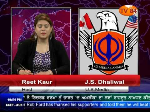 TV84 News 9/19/2014 Part.2 Interview with J.S Dhaliwal (U.S Media)