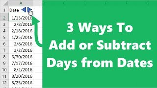 How to Add Days to Dates in Excel