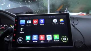 """Review 10.1"""" 2DIN headunit Android 4.4 Kit Kat  Car DVD Player DAB+ Radio WIFI Bluetooth Part 1"""