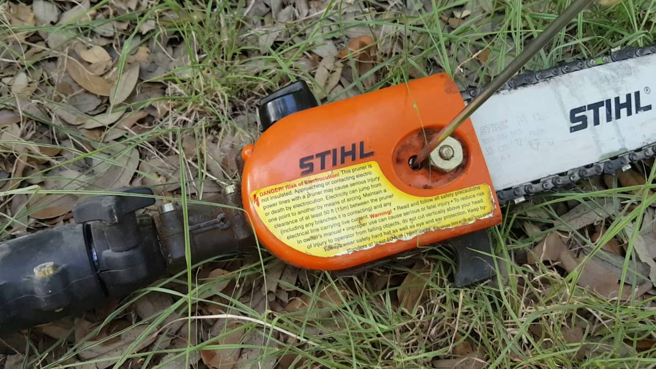 Quick and easy tightening a loose chain on a stihl ht75 polesaw quick and easy tightening a loose chain on a stihl ht75 polesaw greentooth Images