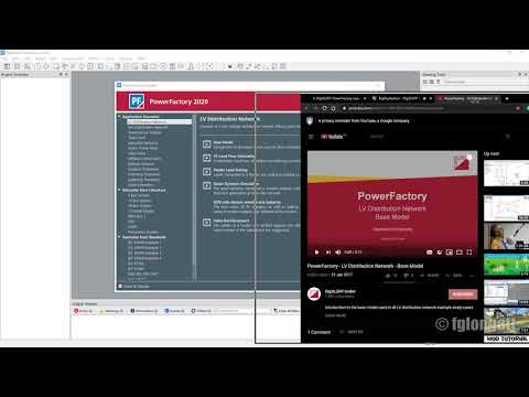 Creating A  Project And Build A Power System Using DIgSILENT PowerFcatory Version 2020