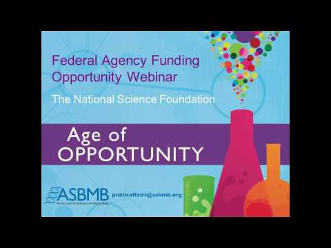 Federal Agency Funding Opportunity Webinar: The National Science Foundation