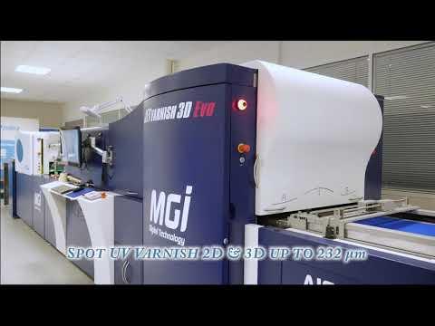 MGI Video JETvarnish 3D Evo Production SilverAge