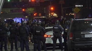 Protests Against Police Brutality End With Arrests In Los Angeles