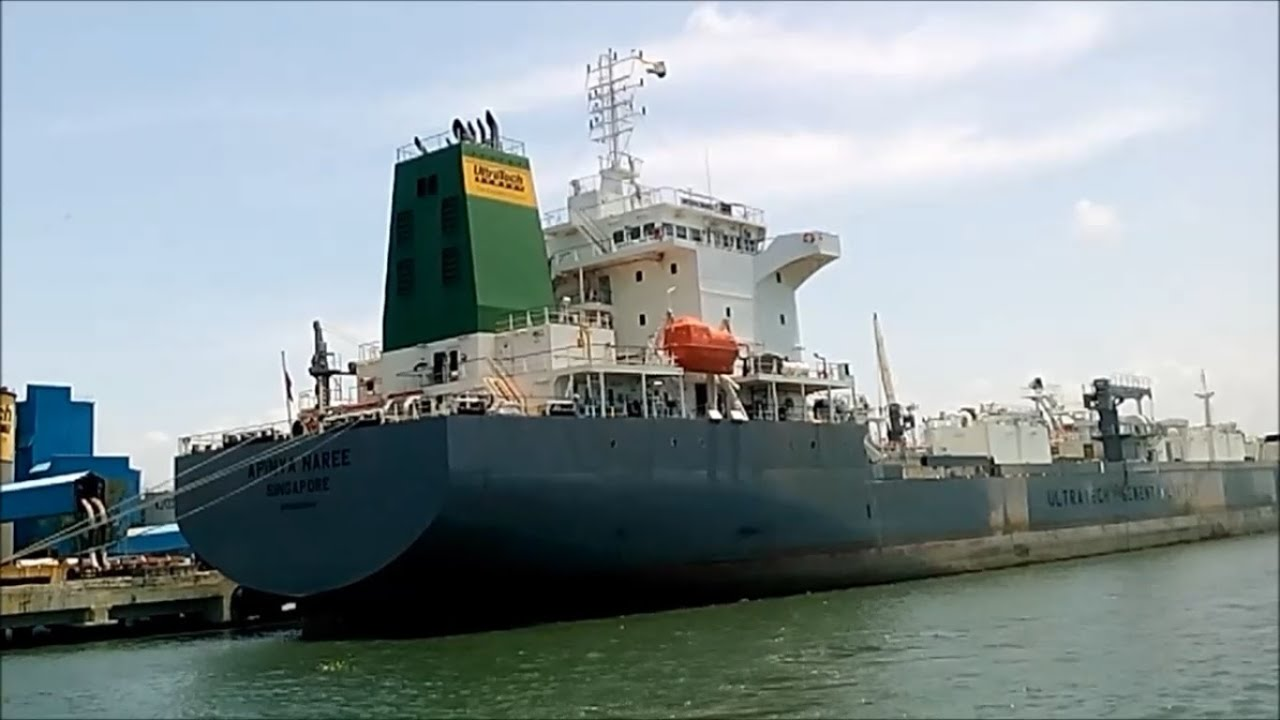 Ultratech Cement Vehicles : Ultra tech cement shipping vessel youtube