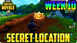 Fortnite: Search Between A Stone Circle, Wooden Bridge, & A Red RV - Week 10 Location Found