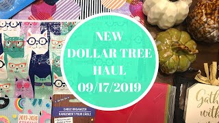 NEW DOLLAR TREE HAUL | SEPTEMBER 17 2019