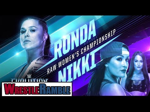 WWE Evolution 2018 Predictions! Ronda Rousey vs. Nikki Bella!