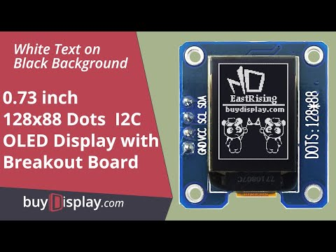 "Connect I2C White 0.73"" inch OLED Display Module 128x88 to Arduino,Raspberry Pi"