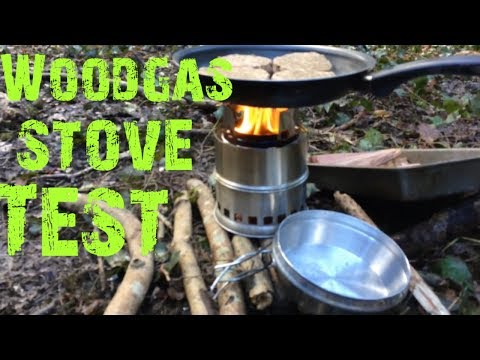 Wood gas stove field test in the Great British Woodland. Cheap Chinese woodgas stove review.
