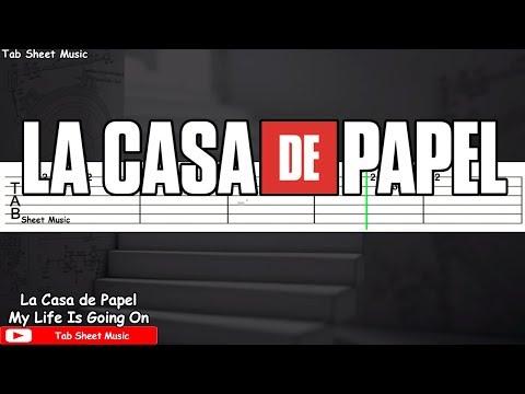 La Casa de Papel (Money Heist) - My Life Is Going On Guitar Tutorial