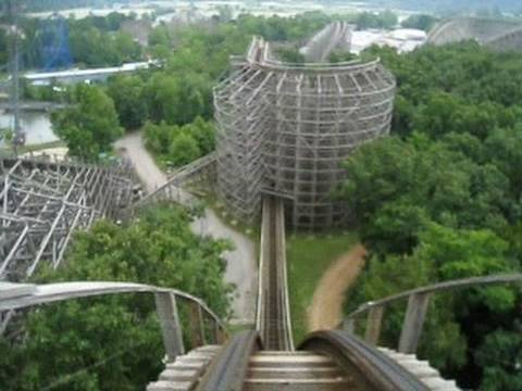 boss front seat on ride pov six flags st louis youtube