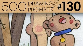 BABIES ON... LEASHES?! - 500 Drawing Prompts #130