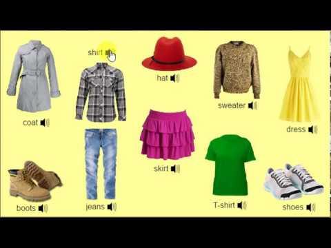 Clothes - Одяг. Написання і вимова англійською