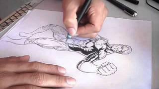 Desenhando Capitão Átomo - 2