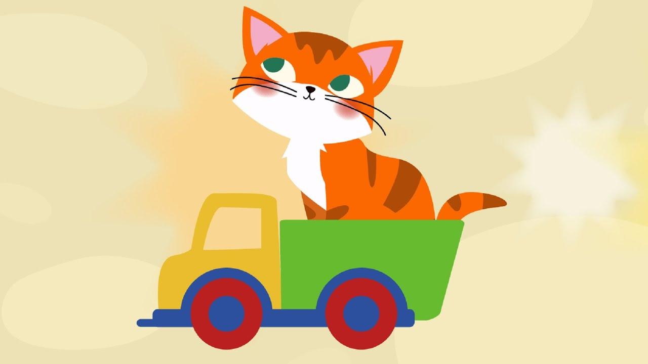 Песенки для детей - Рыжая кошка , развивающая, обучающая ...