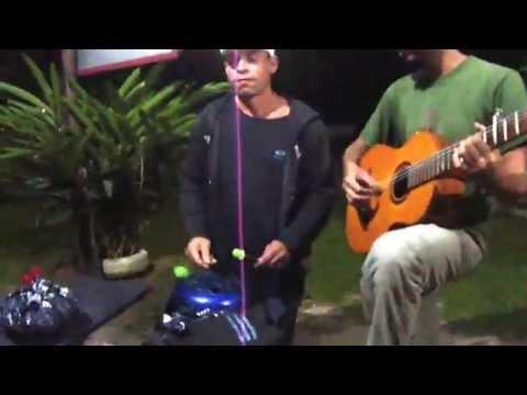 Felipe Bardo & Schreck playing mistic music Paraty Rio de Janeiro