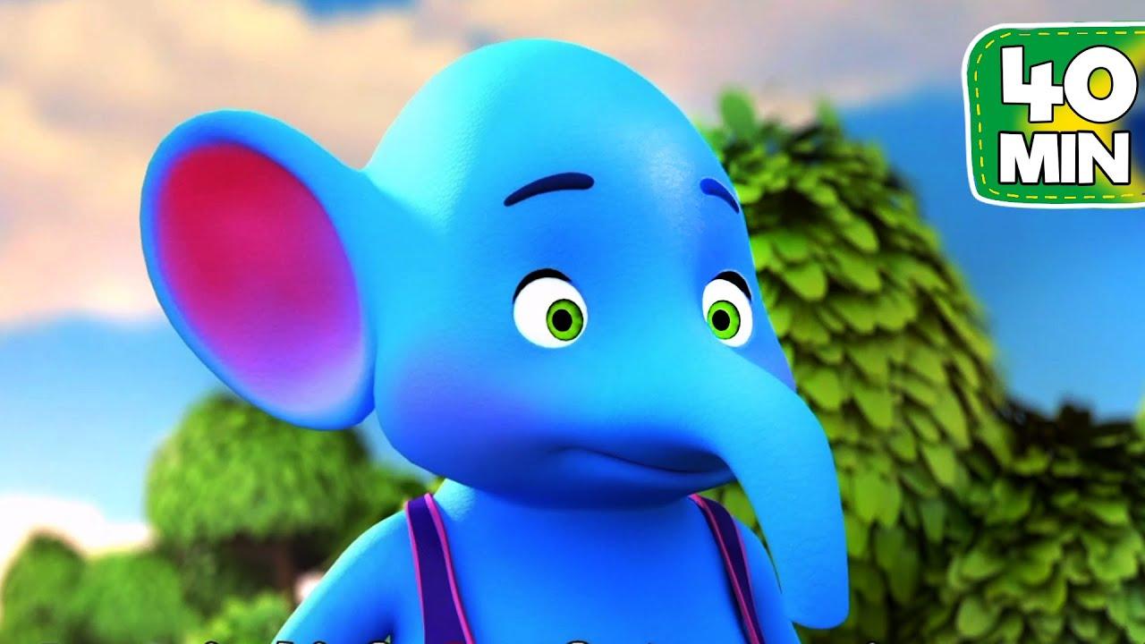🐘 Aprender a contar até 10 | 🟡Um Elefante Se Balançava | Música Infantil | Canções Populares