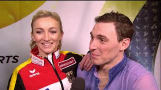 2017 GPF SAVCHENKO & MASSOT Post FS Interview GER CBC