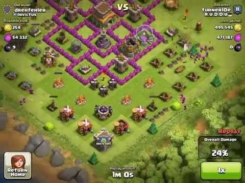 1 Million Resources In Mines And Collectors TH6 (CLASH OF CLANS)