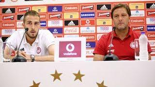 Συν.Τύπου Ολυμπιακός-Λουκέρνη / Press conf. Olympiacos - FC Luzern