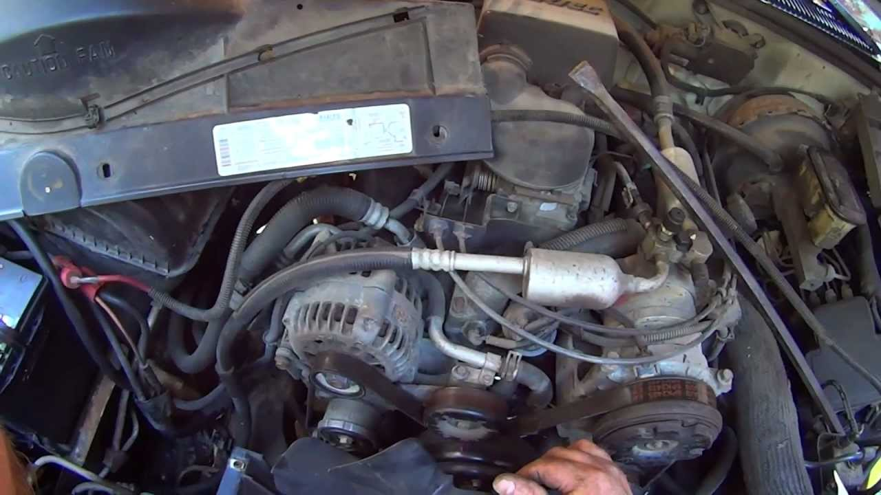 how to change a chevy g m truck water pump and radiator youtube 97 silverado 4x4