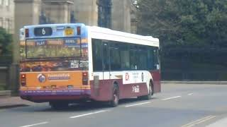The Very Last Lothian Buses Dennis Dart Leaving Holyrood For Hanover street