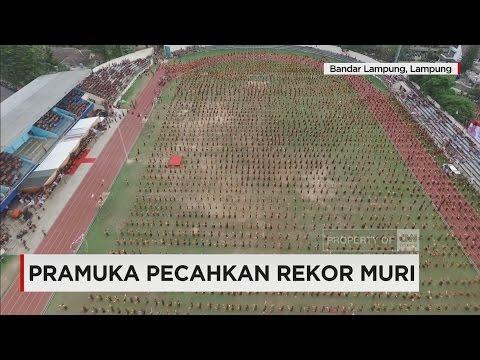 Puluhan Ribu Anggota Pramuka Pecahkan Rekor MURI